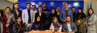 Students learn more about the UN website on occasion of 30th anniversary of the CRC